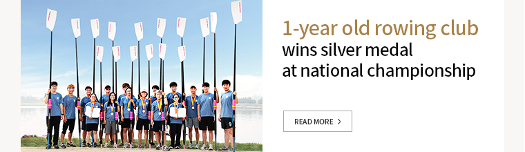 1-year old rowing club wins silver medal at national championship