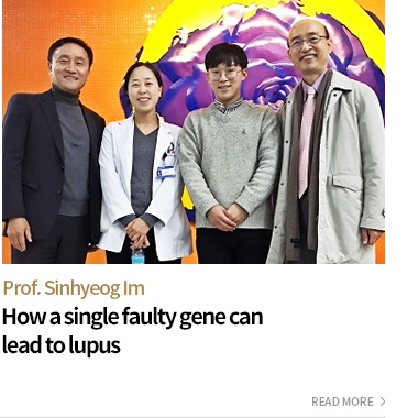 Prof.Sinhyeog,Im - How a single faulty gene can lead to lupus - READ MORE
