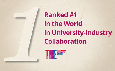 POSTECH is #1 in university-industry collaboration, according to THE