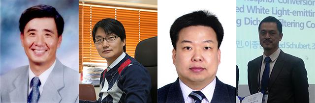 이성학 교수, 이태우 교수, 김형섭 교수, 오승재 교수