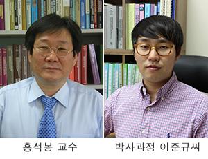 홍석봉 교수, 박사과정 이준규씨