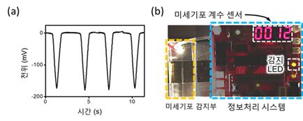 자발적으로 형성되는 알짜 전하를 통해 구동되는 자가발전 구동 미세기포 계수 센서