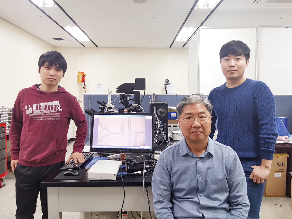 Prof. Wan Kyun Chung and his students' photo