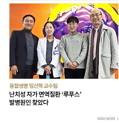 융합생명 임신혁 교수팀 난치성 자가 면역질환 루푸스 발병원인 찾았다 - READ MORE