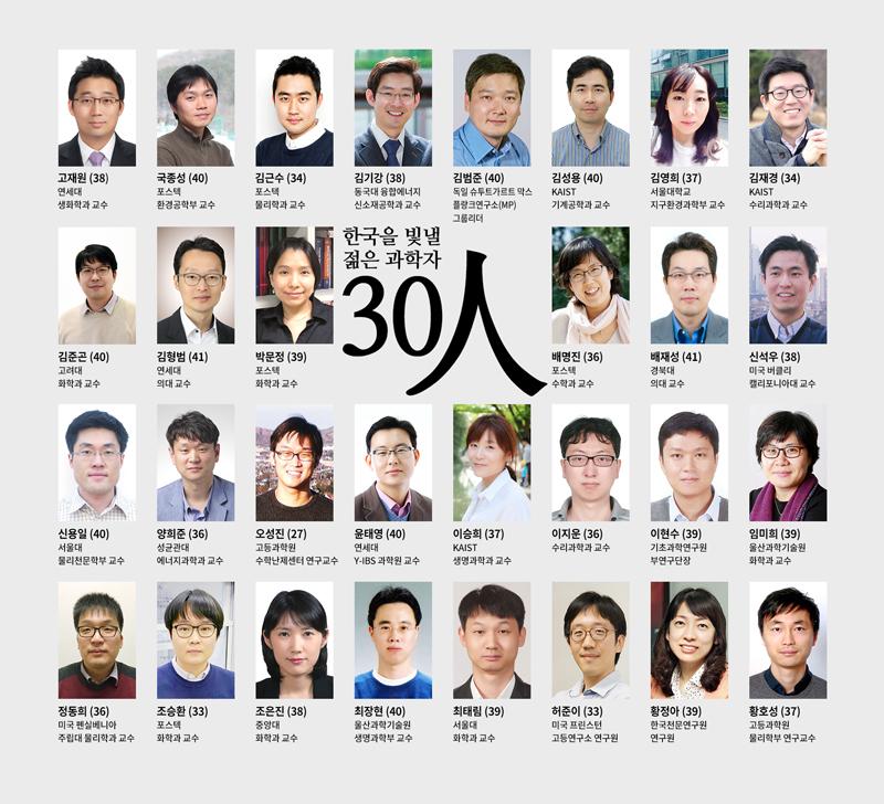 한국을 빛낼 젊은 과학자 30인