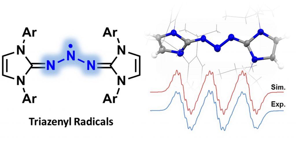 Triaxenyl Radicals 분자구조를 형상화한 이미지