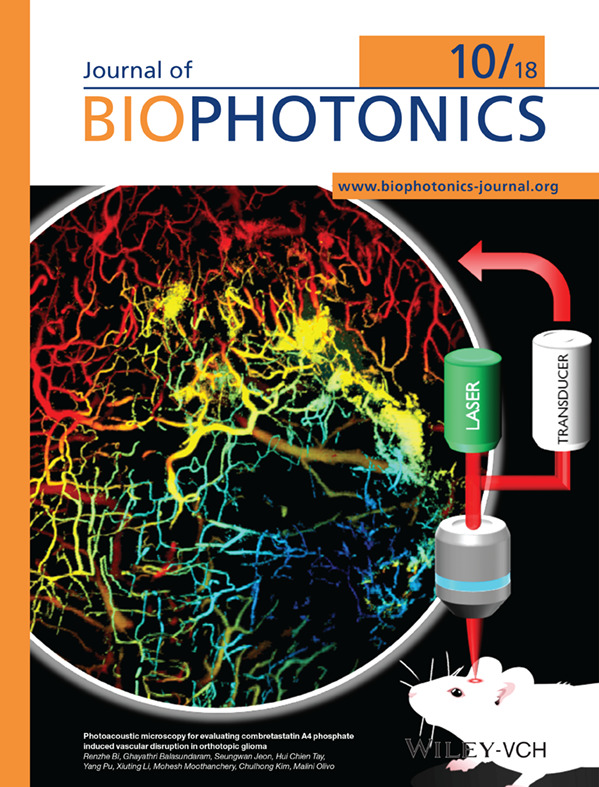 Journal of Biophotonics www.biophotonics-journal.org 표지 이미지
