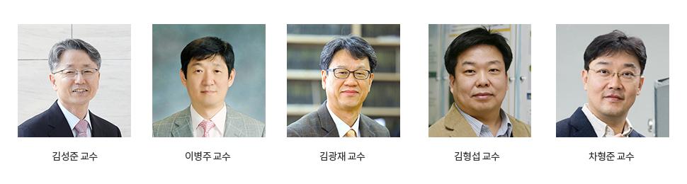 김성준 교수,이병주 교수,김광재 교수,김형섭 교수,차형준 교수