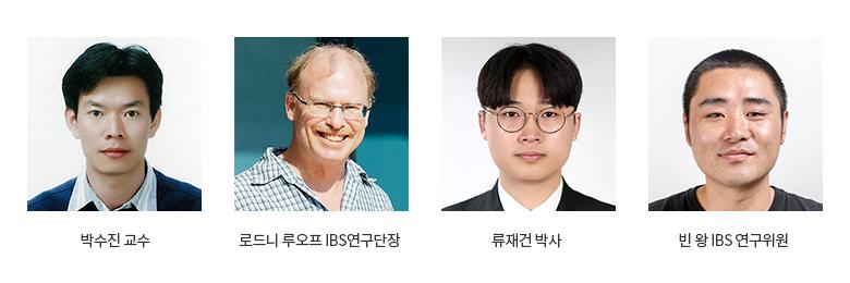 박수진교수, 로드니 루오프 IBS연구단장, 루재건박사, 빈 왕 IBS 연구위원회
