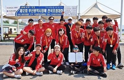 우리대학 조정팀, 전국조정대회 남자대학부 에이트(8+) 종목 2위