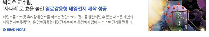 박태호 교수팀, '사다리'로 효율 높인 염료감응형 태양전지 제작 성공